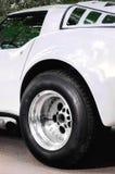 Coche americano interior del vehículo del coche del verde de Musculcar Fotos de archivo