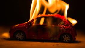 Coche ardiente en la noche metrajes