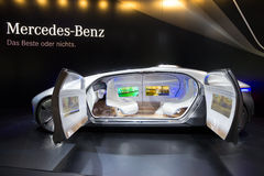 Coche autónomo del concepto de Mercedes Benz Fotos de archivo