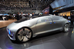 Coche autónomo del concepto de Mercedes Benz Imágenes de archivo libres de regalías