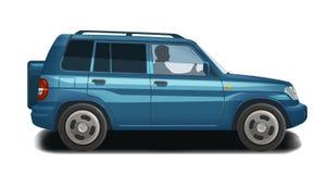 Coche, auto, icono del vehículo o símbolo Transporte, ejemplo del vector del offroader Imagen de archivo
