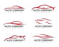 Coche auto Logo Template stock de ilustración