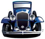 Coche azul de la vendimia Fotografía de archivo libre de regalías