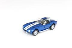 Coche azul del juguete Foto de archivo libre de regalías