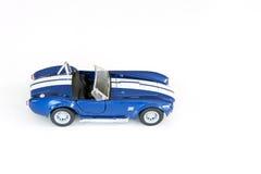 Coche azul del juguete Fotografía de archivo libre de regalías