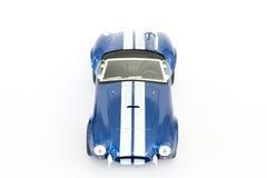 Coche azul del juguete Imágenes de archivo libres de regalías