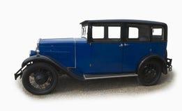 Coche azul del salón de la vendimia Imagenes de archivo