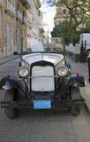 Coche blanco viejo 2 del vintage Fotografía de archivo