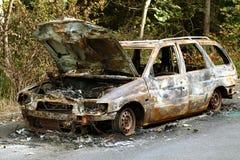 Coche Burnt-out Fotografía de archivo libre de regalías