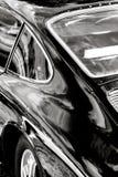 Coche clásico blanco y negro Foto de archivo libre de regalías