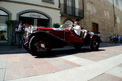 Coche clásico en Mille Miglia 2016 Fotografía de archivo