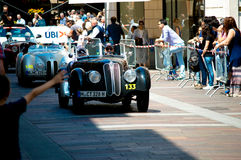 Coche clásico en Mille Miglia 2016 Imagen de archivo