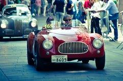 Coche clásico en Mille Miglia 2016 Imagen de archivo libre de regalías