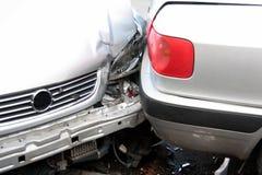 Coche, colisión del accidente Imagenes de archivo