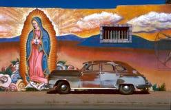 Coche con Guadalupe Fotos de archivo libres de regalías