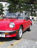 Coche convertible italiano clásico, alfa Romeo Spider Imágenes de archivo libres de regalías