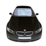 Coche convertible negro de BMW 335i ilustración del vector