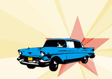 Coche cubano ilustración del vector