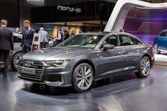Coche 2019 de Audi A6 Berline imagen de archivo libre de regalías