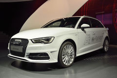 Coche de Audi A3 e-Tron Fotos de archivo libres de regalías