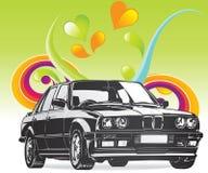 Coche de BMW de la bella arte Fotos de archivo