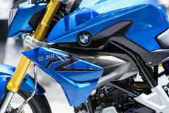 Coche de BMW G310 en la expo internacional 2015 del motor de Tailandia Fotografía de archivo libre de regalías