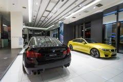 Coche de BMW M5 para la venta Imágenes de archivo libres de regalías