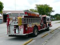 Coche de bomberos de 911 N Y C jubilado a la Florida Fotografía de archivo