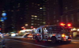 Coche de bomberos de New York City imagen de archivo