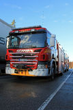 Coche de bomberos de Scania P320 Fotos de archivo libres de regalías