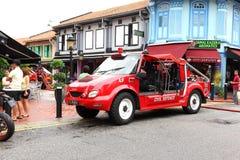 Coche de bomberos de Singapur del servicio de emergencia Imagen de archivo