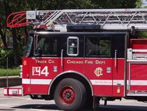 Coche de bomberos en Chicago Imagen de archivo libre de regalías