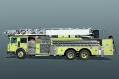 Coche de bomberos en el aeropuerto Fotos de archivo