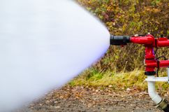 Coche de bomberos en la acción Fotografía de archivo