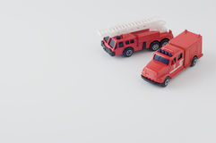 Coche de bomberos fundido a troquel del juguete Fotos de archivo libres de regalías