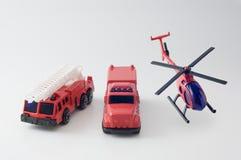 Coche de bomberos fundido a troquel del juguete Imágenes de archivo libres de regalías