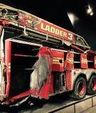 Coche de bomberos, 9/11 monumento, Nueva York Fotos de archivo libres de regalías