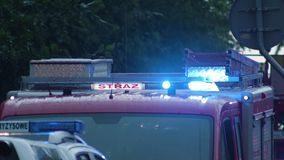Coche de bomberos preparado para rescatar Foto de archivo libre de regalías