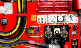 Coche de bomberos rojo Foto de archivo libre de regalías