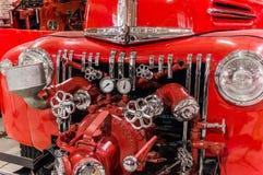 Coche de bomberos viejo de la obra clásica del vintage Fotografía de archivo libre de regalías