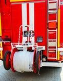 Coche de bomberos, vista posterior Imagen de archivo libre de regalías