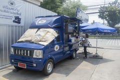 Coche de Caffe Doro Transport Services Foto de archivo