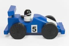 Coche de carreras azul I Foto de archivo libre de regalías