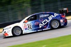 Coche de carreras de Acura TLX-GT fotos de archivo libres de regalías