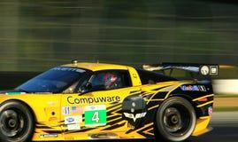 Coche de carreras de Chevy Corvette C6 ZR1 fotos de archivo libres de regalías