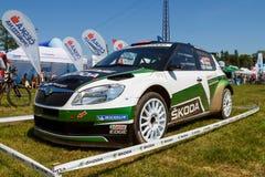 Coche de carreras de Fabia S2000 Fotos de archivo