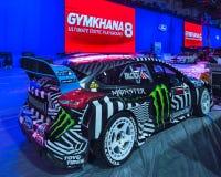 Coche de carreras de Ford Fiesta, SE de la asociación del mercado del equipo de la especialidad Imagen de archivo libre de regalías