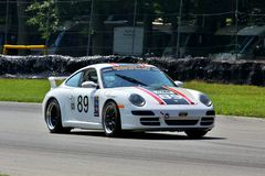 Coche de carreras de Porsche 997 Fotografía de archivo