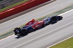 Coche de carreras de Renault de la fórmula Foto de archivo