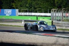 Coche de carreras de Sauber Mercedes Group C en la acción Fotografía de archivo